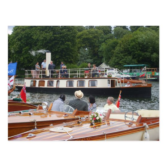 Henley on Thames, Classic steam yacht Postcard