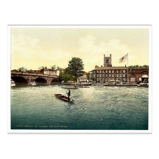 Henley on Thames, Red Lion Hotel, London and subur Post Card