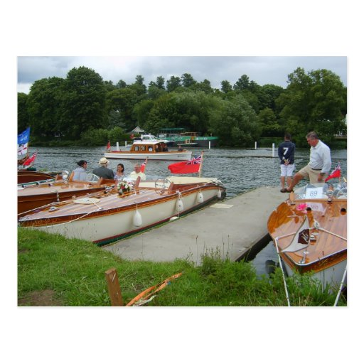 Henley on Thames, Traditional motor boats Postcards