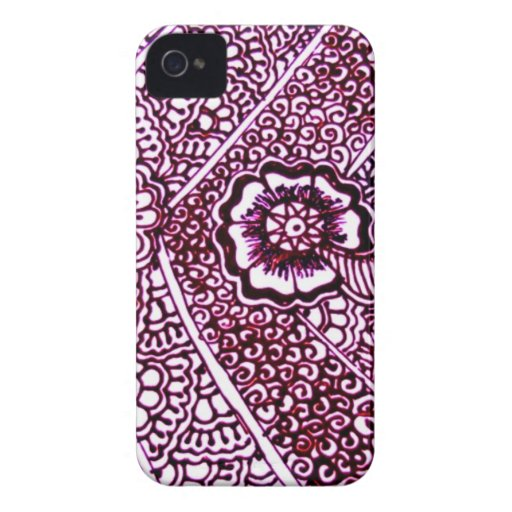 Henna Art Drawing CaseMate IPhone 4 Cases