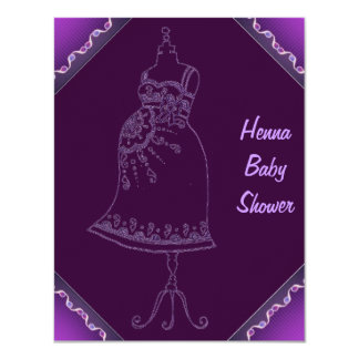 Henna Baby Shower Invitation