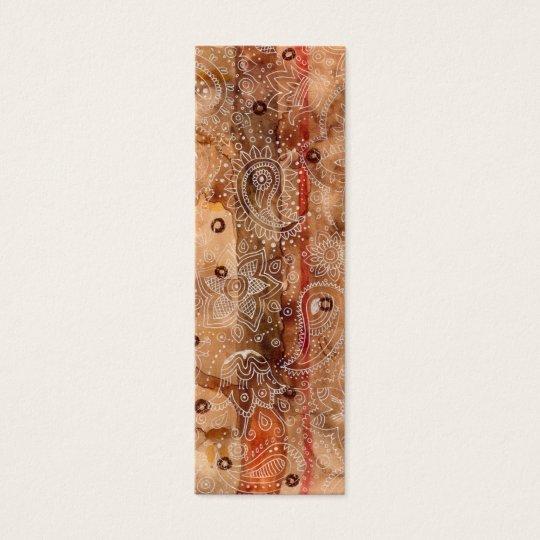 Henna Design Bookmark Mini Business Card
