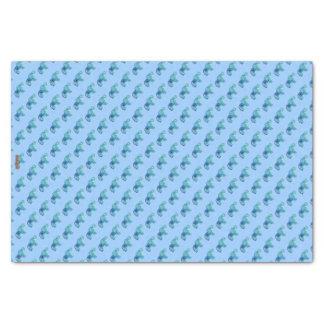 Henna Elephant (Blue/Light Blue) Tissue Paper