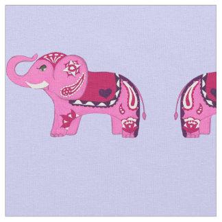 Henna Elephant (Pink/Purple) Fabric