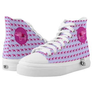 Henna Elephant (Pink/Purple) High Tops