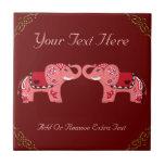 Henna Elephant (Red/Pink)
