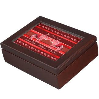 Henna Elephant (Red/Pink) Keepsake Box