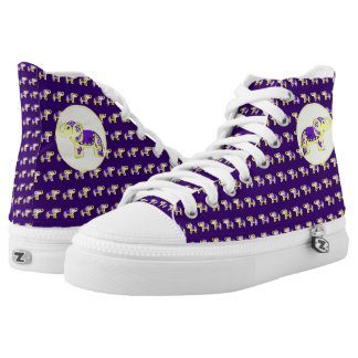 Henna Elephant (Yellow/Purple) High Tops