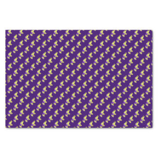 Henna Elephant (Yellow/Purple) Tissue Paper