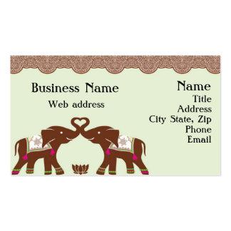 Henna Elephants Business Cards