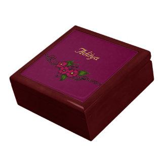 Henna Flower (Fuschia) Large Square Gift Box