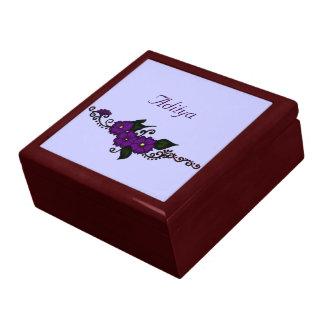 Henna Flower Large Square Gift Box