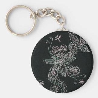 henna flowers keychains