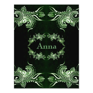 Henna Green Mehndi Bollywood Card