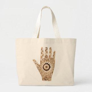 Henna Hand Large Tote Bag