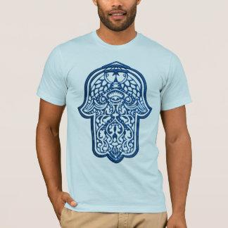 Henna Hand of Hamsa (Blue) T-Shirt