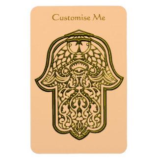 Henna Hand of Hamsa (Golden) Rectangular Photo Magnet