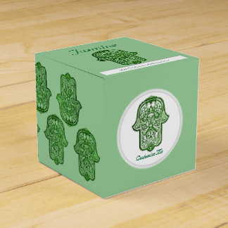 Henna Hand of Hamsa (Green) Favour Box
