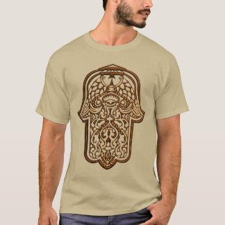 Henna Hand of Hamsa (Orange) T-Shirt