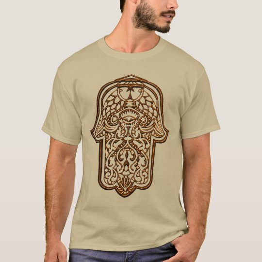 Henna Hand of Hamsa (Orange) T-Shirt