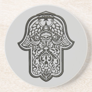 Henna Hand of Hamsa (Original) Coaster