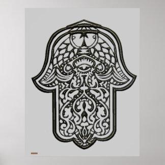 Henna Hand of Hamsa Original Print