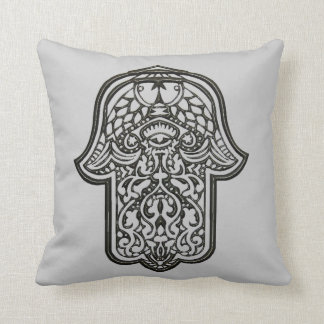 Henna Hand of Hamsa (Original) Throw Cushions