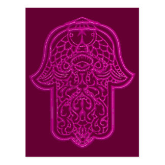 Henna Hand of Hamsa (Pink) Postcard
