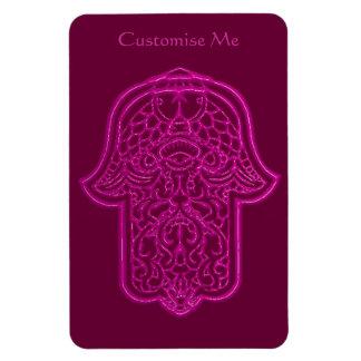 Henna Hand of Hamsa (Pink) Rectangular Photo Magnet