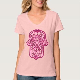 Henna Hand of Hamsa (Pink) T-Shirt