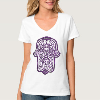 Henna Hand of Hamsa (Purple) T-Shirt