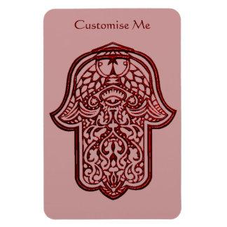 Henna Hand of Hamsa Red Magnets