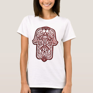 Henna Hand of Hamsa (Red) T-Shirt