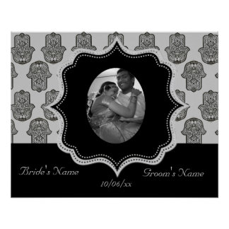 Henna Hand of Hamsa (Wedding) Poster
