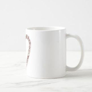Henna Heart Design Coffee Mugs