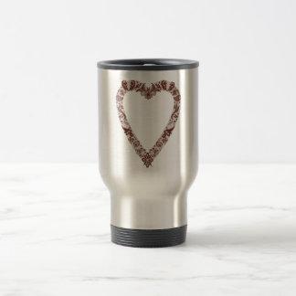 Henna Heart Design Mugs