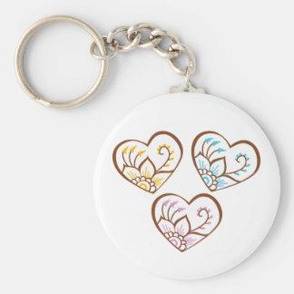 Henna Hearts Keychain