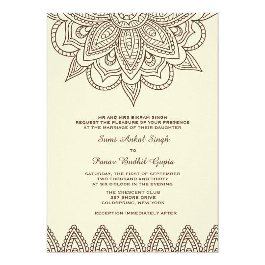 henna invitation zazzle co uk