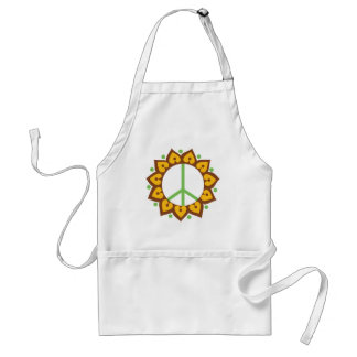 Henna Lotus Flower Peace Sign Standard Apron
