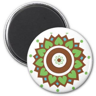 Henna Lotus Mandala Magnet
