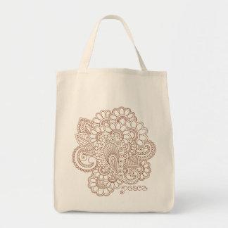 Henna Mehndi Abstract Paisley Doodle Bag