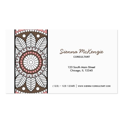 Henna business cards henna business card designs for Henna business cards