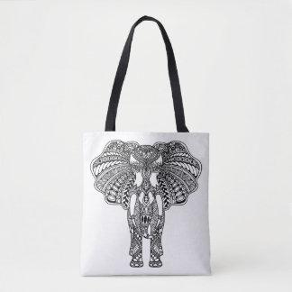 Henna Mehndi Decorated Indian Elephant 2 Tote Bag