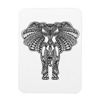 Henna Mehndi Decorated Indian Elephant Magnet