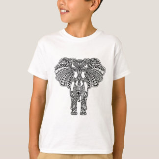Henna Mehndi Decorated Indian Elephant T-Shirt