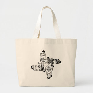 Henna Mehndi Hands Indian Designs Painted Wedding Jumbo Tote Bag