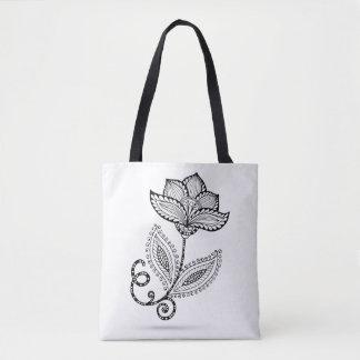 Henna Paisley Mehndi Doodles 2 Tote Bag