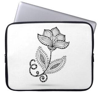 Henna Paisley Mehndi Doodles Laptop Sleeve