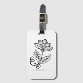 Henna Paisley Mehndi Doodles Luggage Tag