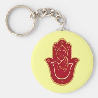 Henna Peace and Love Hamsa Key Ring
